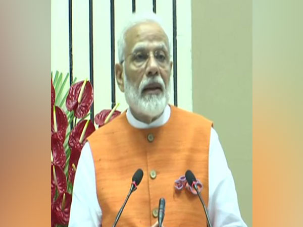Prime Minister Narendra Modi speaking at an event in Delhi on Friday