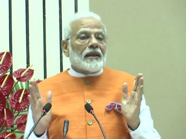 Prime Minister Narendra Modi speaking at an event in New Delhi on Friday