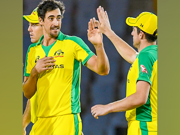 Mitchell Starc helped Australia win the first ODI against WI. (Photo/ ICC twitter)