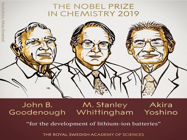 The Nobel Prize in Chemistry was awarded to John B Goodenough, M Stanley Whittingham and Akira Yoshino. (Photo courtesy: Nobel Prize Twitter)