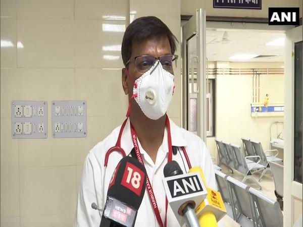 Dr Vasant Kumar, Nodal Officer Hari Bux Kanwatia Hospital Jaipur. (Photo/ANI)