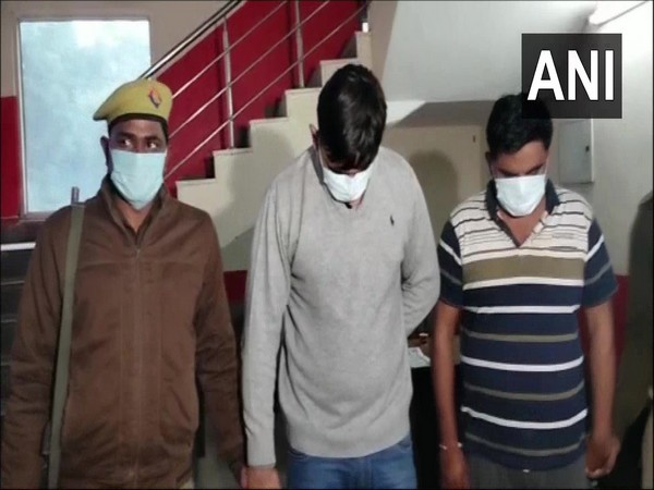 The accused arrested by Noida police. (Photo/ANI)
