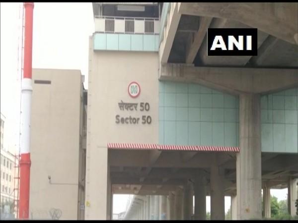 Sector-50 metro station in Noida, Uttar Pradesh. (Photo/ANI)