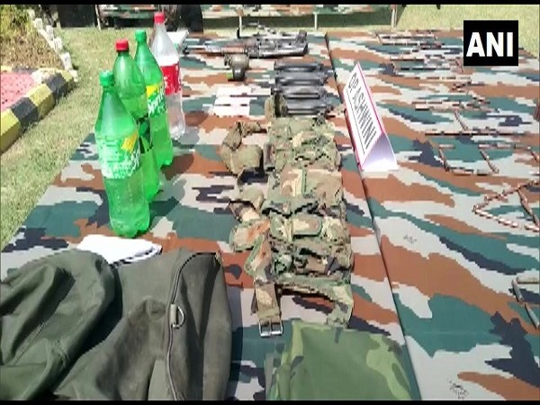 Arms seized by the Army. (Photo/ ANI)