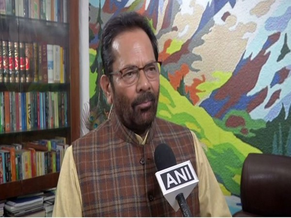 Union Minister of Minority Affairs Mukhtar Abbas Naqvi. Photo/ANI