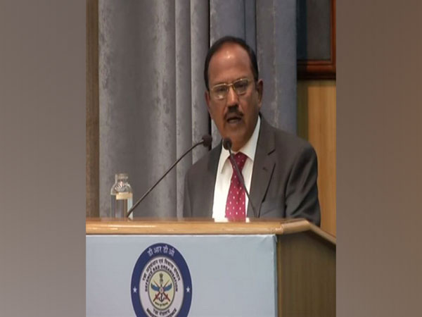 NSA Ajit Doval speaking at DRDO directors conference in New Delhi on Tuesday. Photo/ANI
