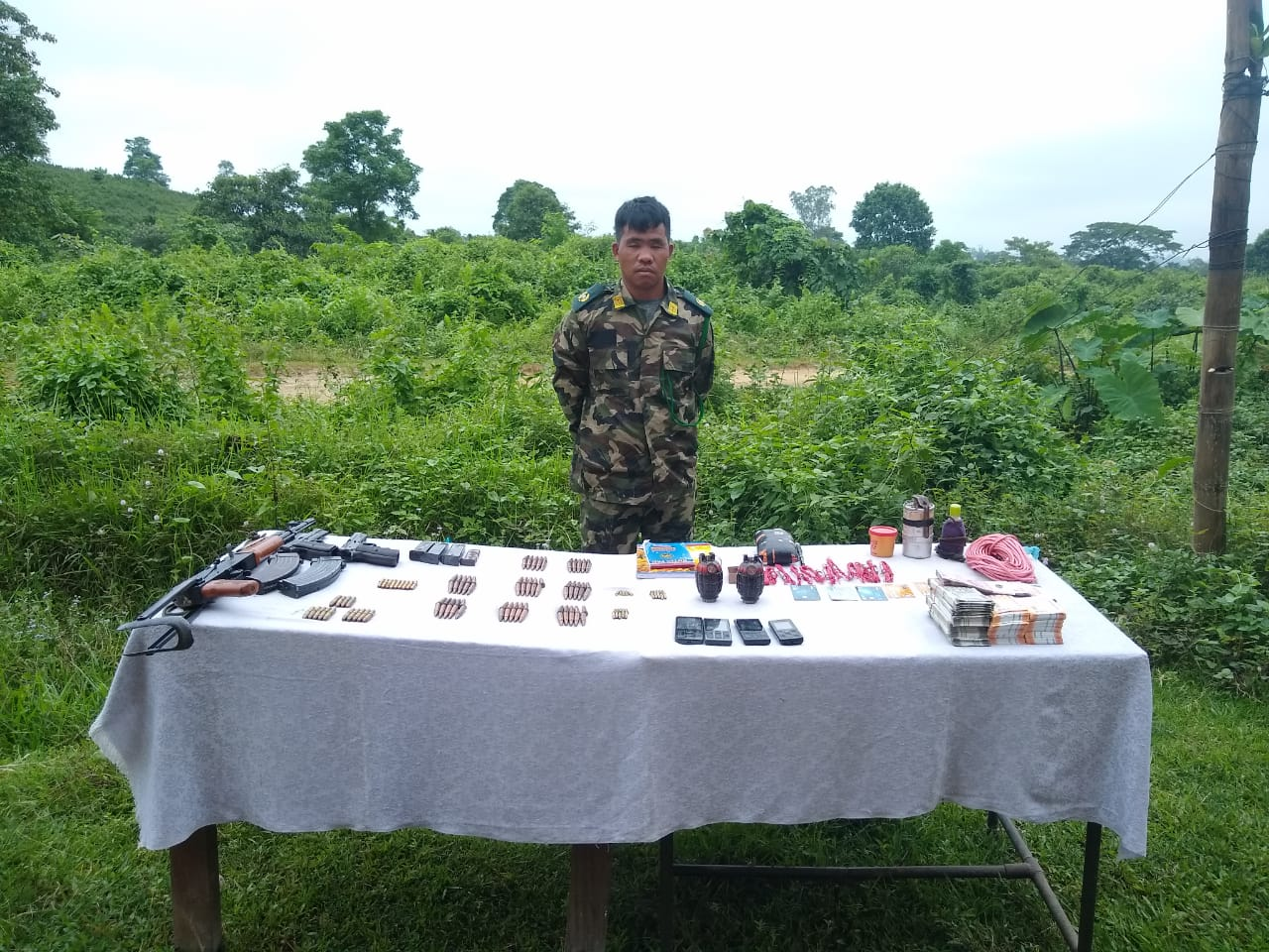 The apprehended individual is the deputy of Self Styled Major General Absolom Tangkhul of NSCN (IM).