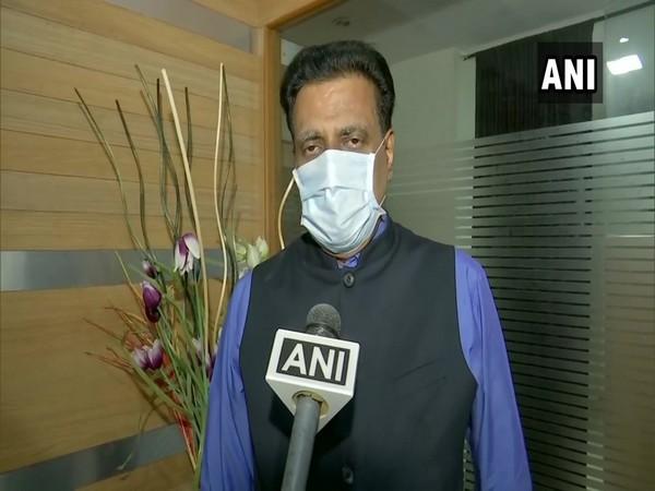 Telangana BJP spokesperson NV Subhash speaking to ANI on Tuesday. (Photo/ANI)