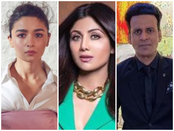 Alia Bhatt, Shilpa Shetty Kundra and Manoj Bajpayee (Image Courtesy: Instagram)