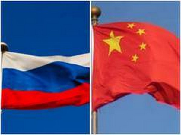 Flags of Russia and China