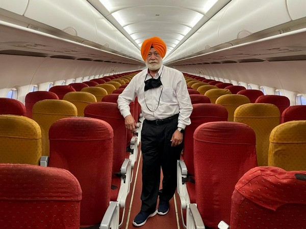 SP Singh Oberoi traveled alone from Amritsar to Dubai on an Air India flight. (Photo/ ANI)