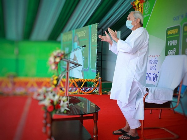 Odisha Chief Minister Naveen Patnaik while launching projects for Kalahandi district on Thursday. (Picture Source: Twitter/Naveen Patnaik)