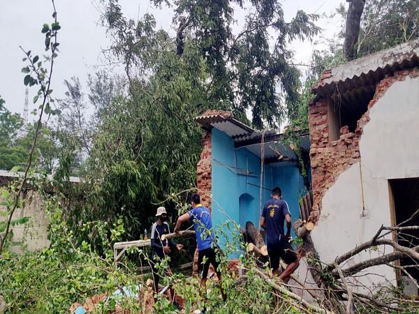 Visuals from Balasore, Odisha after Cyclone Yaas made the landfall. (Photo/ANI)