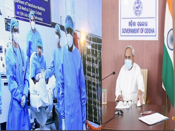 Odisha Chief Minister Naveen Patnaik inaugurating Plasma Bank on Wednesday. (Picture courtesy- CMO Odisha)