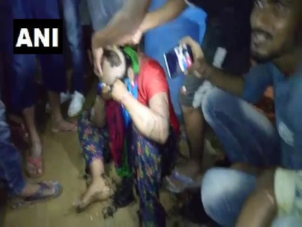 Head of the victim being shaved on Saturday (photo/ANI)