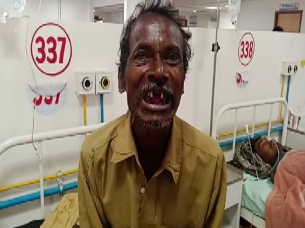 One of the six men who was made to eat human excreta before an angry mob broke his teeth in Odisha's Ganjam district. Photo/ANI