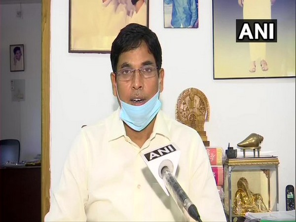 Agricultural Minister Arun Kumar Sahoo speaking to ANI in Bhubaneswar on Monday.