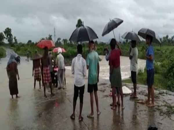 A visual of rain in Odisha on Tuesday.