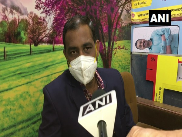 Dr Amit Malakar, COVID Nodal Officer, Indore speaking to ANI on Monday. (Photo/ANI)