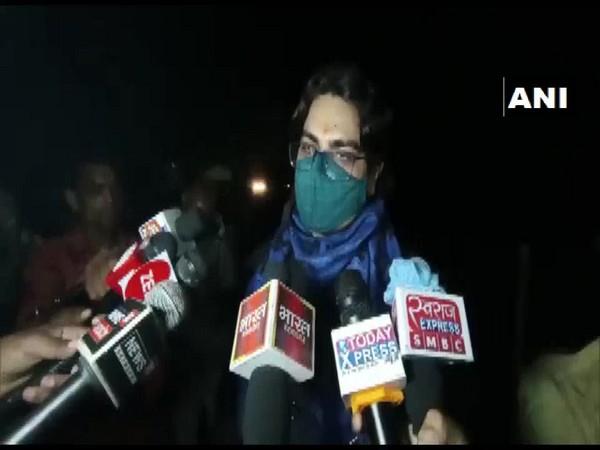 Prayagraj DM Bhanu Chandra Goswami speaks to media on Friday. (Photo/ANI)