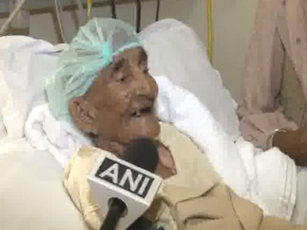 118-year-old Kartar Kaur Sangha while talking to ANI at Satguru Partap Singh Apollo Hospital on Thrusday. Photo/ANI