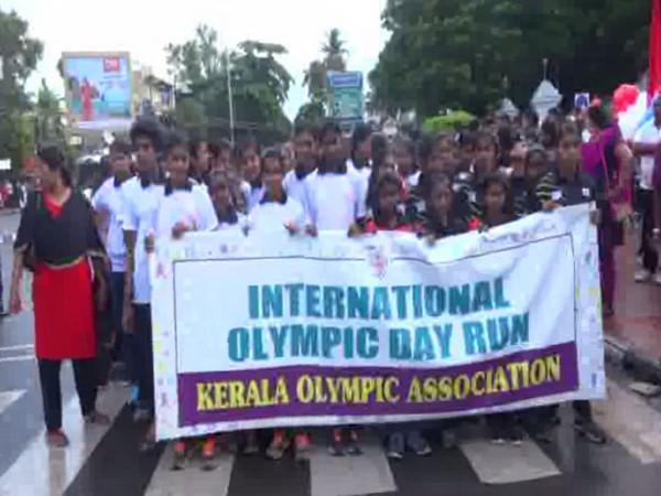 International Olympic Day run at Trivandrum