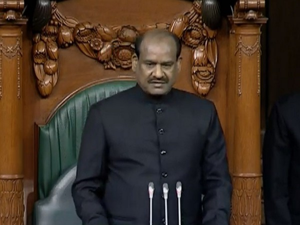 Lok Sabha Speaker Om Birla on the first day of the Winter Session of the Parliament on Monday: Image Source Lok Sabha TV