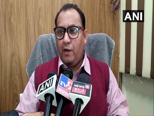 AMU PRO Omar Saleem Peerzada speaking to reporters in Aligarh on Tuesday.