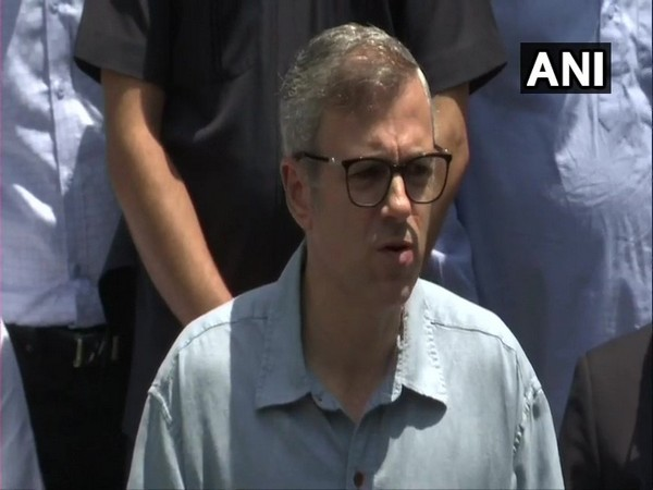 National Conference (NC) leader Omar Abdullah addressing media.