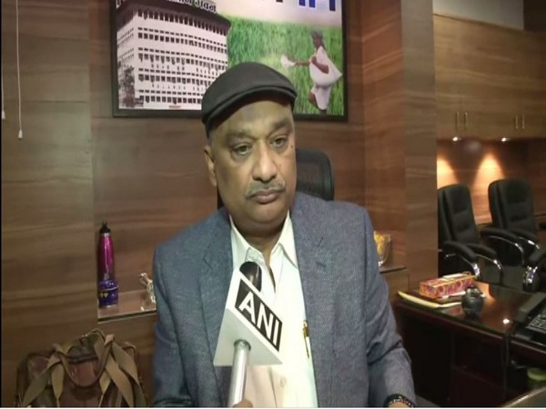 BISCOMAUN chairman Sunil Singh speaking to ANI in Patna on Thursday. Photo/ANI