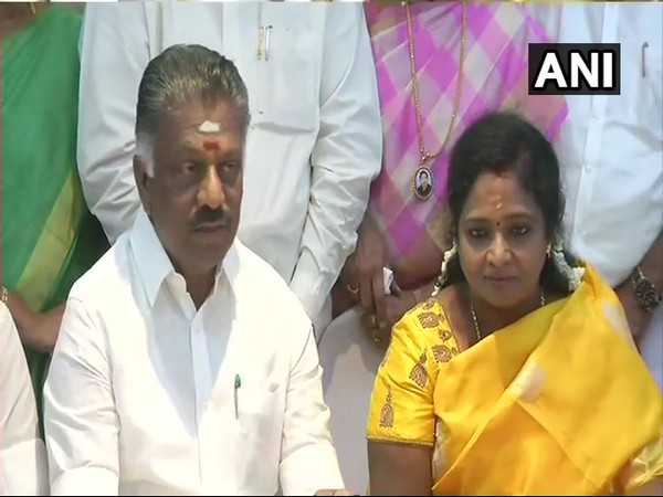 Tamil Nadu Dy CM and AIADMK leader O. Panneerselvam at a press conference in Chennai on Sunday. Photo/ANI
