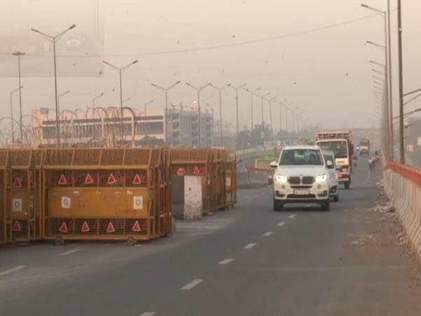 Visuals of Ghazipur border. (Photo/ANI)