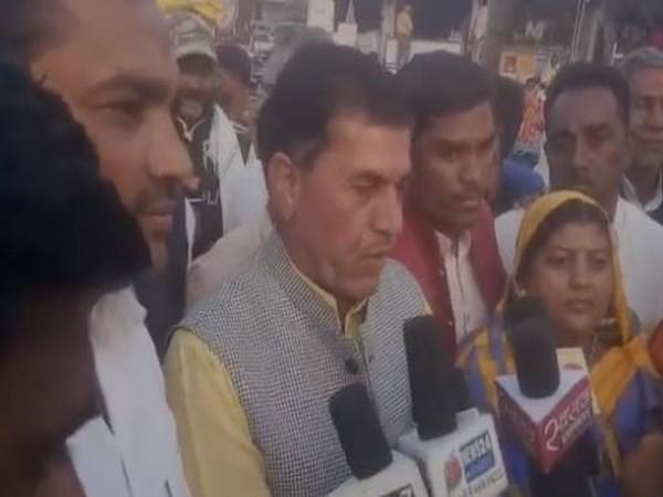 Madhya Pradesh Biaora MLA Govardhan Dangi speaks to media in Rajgarh  [Photo/ANI]
