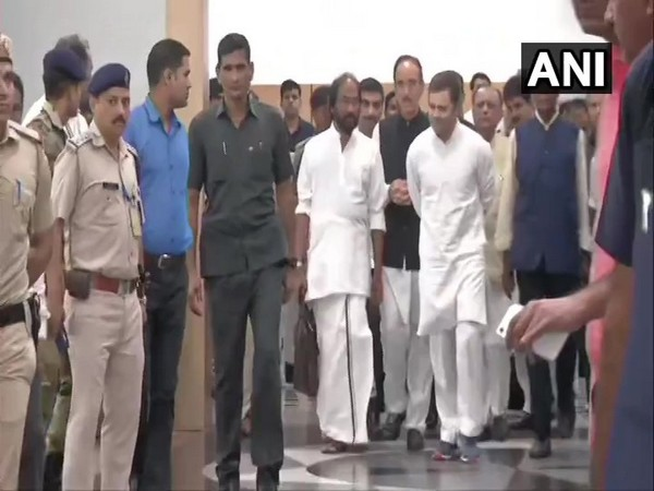 Opposition leaders at Delhi airport after they were sent back from Srinagar on Saturday.