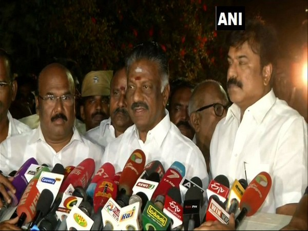 Deputy Chief Minister O. Panneerselvam speaking to the media on Monday in Chennai