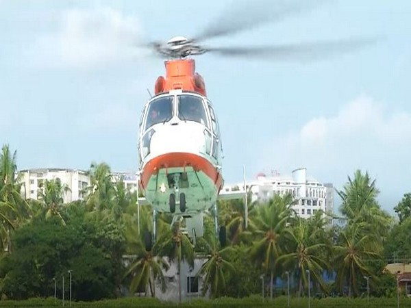 The organ was transported in the chopper.        Photo/ANI