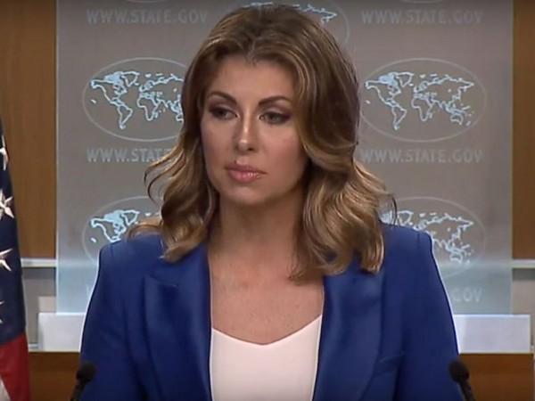 US State Department Spokesperson Morgan Ortagus (Photo/ANI)