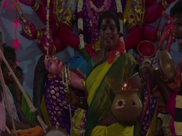 Transgender priest Manikandan offers special prayers on the occasion of Aadi festival