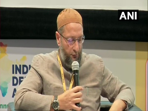 AIMIM MP Asaduddin Owaisi speaking at an event in Hyderabad, Telangana on Thursday.