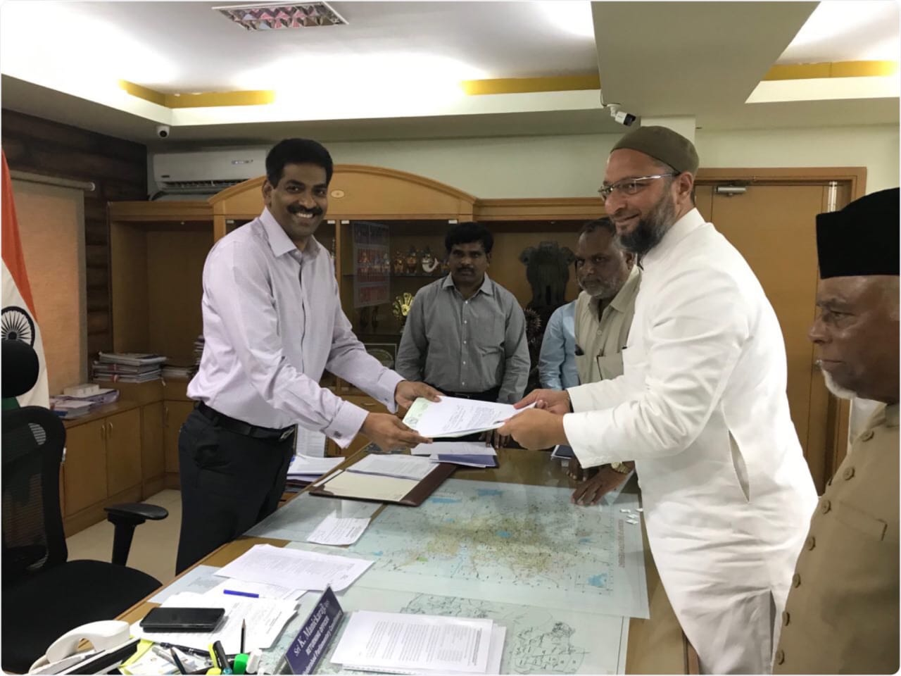 Asaduddin Owaisi files nomination from Hyderabad