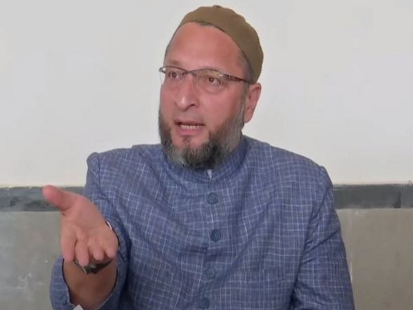 AIMIM Chief Asaduddin Owaisi at press conference in Hyderabad on Monday