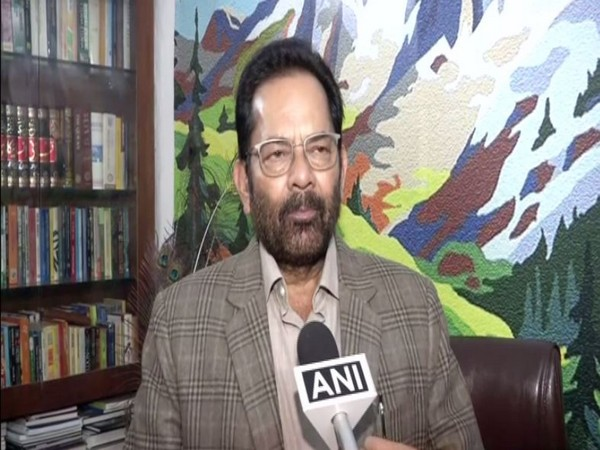 Union Minister for Minority Affairs Mukhtar Abbas Naqvi speaks to ANI in New Delhi on Tuesday [Photo/ANI]