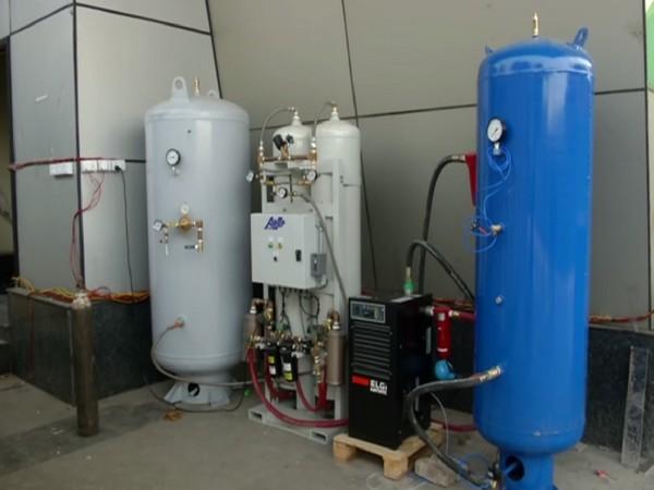 Oxygen plant set up at COVID care centre in Delhi's Commonwealth Games village Sports complex. (Photo/ ANI)