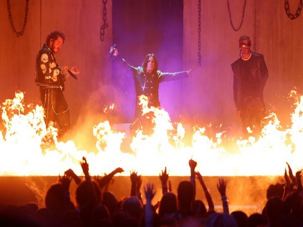 Post Malone, Ozzy Osbourne and Travis Scott perform at 2019 American Music Awards (Picture Courtesy: Reuters)