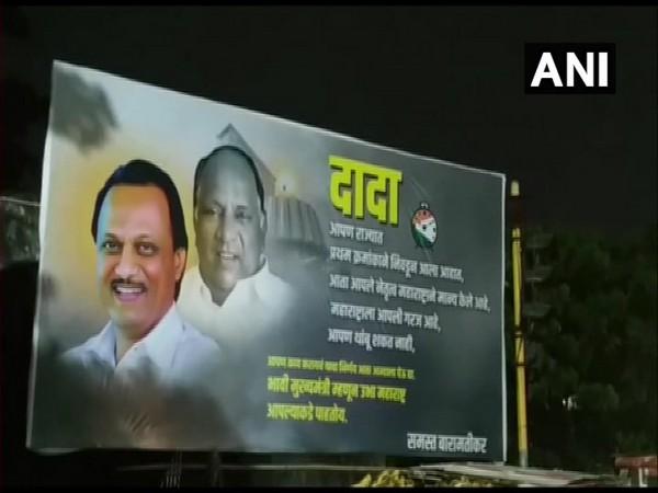 Posters ofAjit Pawar put up in Baramati, Maharashtra on Wednesday. (Photo/ANI)
