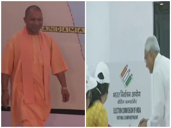 Uttar Pradesh Chief Minister Yogi Adityanath, Chief Minister of Bihar, Nitish Kumar cast votes in Gorakhpur and Patna respectively.