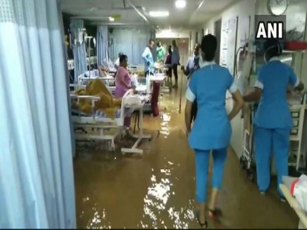 Visuals from the hospital in Hyderabad in Telangana on Sunday. Photo/ANI