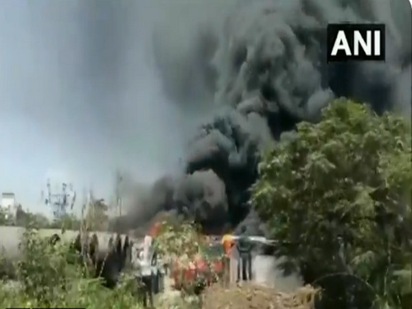 Visual from the fire site. (ANI)