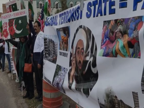 The protest in Houston, US, on Saturday against Pak-backed terror