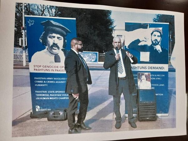 Pashtuns hold protest at UN HQ against Pakistan
